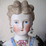 SALE PENDING Antique Dornheim, Koch & Fischer Parian Shoulderhead Doll + Provenance