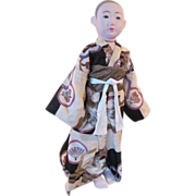 Incredible Huge Rare Vintage Japanese Ichimatsu Ningyo Boy Doll Showa Period