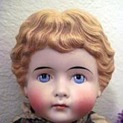 SALE Glorious Antique German Kling Blond Bisque Head Highland Mary Doll