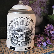 Incredible Antique Villeroy & Boch Brewery Stein