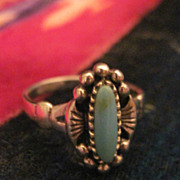 SALE Beautiful Vintage Sterling Silver Native American Turquoise Ring