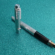 REDUCED Diamond Encrusted Flamme Parker Pen French Made