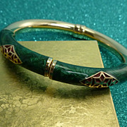 SALE 14k Enamel Bracelet