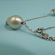 14k Cultured Pearl Necklace  Uno A Erre