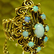SALE Decadent Antique 14k Opal Ring