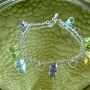 SALE 750 18k Le Gi Bracelet semi precious gemstones Designer