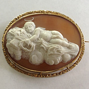 Museum Quality Shell Mourning Cameo