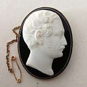 Paste Cameo Brooch/Pendant of Prince Albert by Lamont