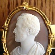 Saulini Portrait Cameo of Lord George Bentinck (1802-1848)