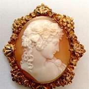 Antinous Cameo Brooch