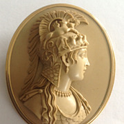 Fabulous Lava Cameo of Athena Parthenos