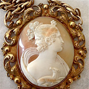 SOLD Fantastic Gryllus Cameo Necklace