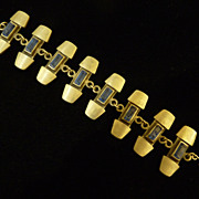 Modern Pewter R Tennesmed Sweden Bracelet.