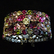 Rare Multicoloured (fuchsia, green, purple, pink and yellow) Sherman Cuff.