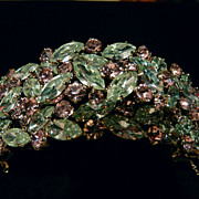 Wonderful Alexandrite Colour-Change Signed Sherman Cuff Bracelet.