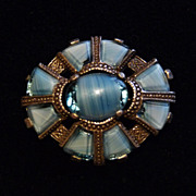 Pretty Blue Miracle Brooch.