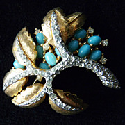Delicious Jomaz Faux Turquoise Brooch