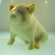 Belleek Piglet Ireland Piggy Porcelain Pig
