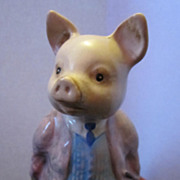 SOLD Beswick Royal Doulton Pig Beatrix Potter's Pigling Bland With Pinkish Purple Coat