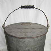 SOLD Antique B & M Boston & Maine Railroad Water Can or Coal Bucket Pail