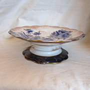 Flow Blue Doulton Burslem Inman Steamship Company Cake Display Stand Platter