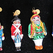 Department 56 Miniature Nutcracker Christmas Holiday Ornaments Set of 6