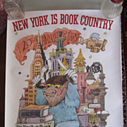 Original Vintage 1998 Maurice Sendak Poster New York Is Book Country