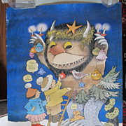 Signed Vintage Maurice Sendak Where The WIld Things Are Poster Rolling Stone Art