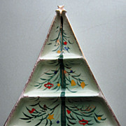 Vintage 1940s Christmas Tree Platter Tray