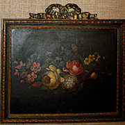 SALE Gorgeous MID-1800s European Still Life Oil on Board w/Carved Frame