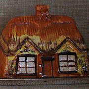 SALE HTF Handpainted Old Price & Kensington Staffordshire Cottage Ware Butter Keeper