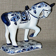 SALE Beautiful Classic Velsen Signed/Numbered & Hand Painted Delft Horse Figurine
