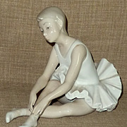 SALE Hard to Find Handpainted Retired LLADRO NAO Porcelain Ballerina Figurine