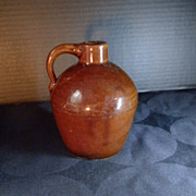REDUCED Brown Glazed Pottery Jug Signed Roycroft Shops of Arts and Crafts Movement Fame
