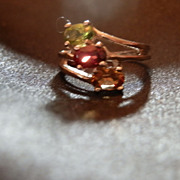 Silver Mother's Ring with Semi-Precious Gems (Birthstones)