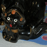 Collection of Rare Black Made in Japan Pottery Figures