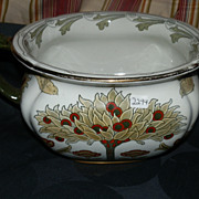 Doulton Burslem Tudor Pattern in Green Colorway Chamber Pot