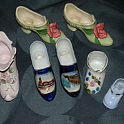 SALE Vintage Porcelain Shoe Collection