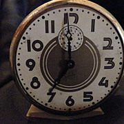 Art Deco Ingraham Salute Alarm Clock