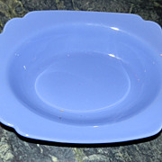 Riviera by Homer Laughlin Oval Serving Bowl in Mauve Blue