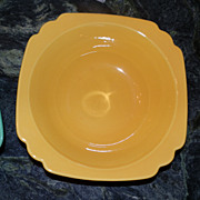 Riviera by Homer Laughlin Yellow Serving Bowl