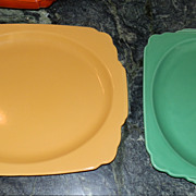 Riviera by Homer Laughlin Large Yellow Platter or Tray