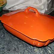 Riviera by Homer Laughlin Red Lidded Casserole