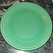 Two Vintage Fiestaware by Homer Laughlin Green Dinner Plates