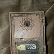 Vintage brass Post Office Box Locking Door