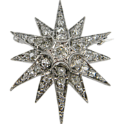 Diamond star brooch twinkling brightly
