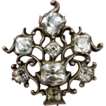 Black Dot 18th century paste Giardinetti Brooch