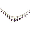Bright Suffragette amethyst & peridot fringe necklace
