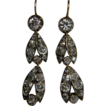 Elegant antique diamond drop earrings