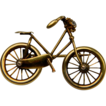 Bicycle  brooch with a diamond headlamp (1086)